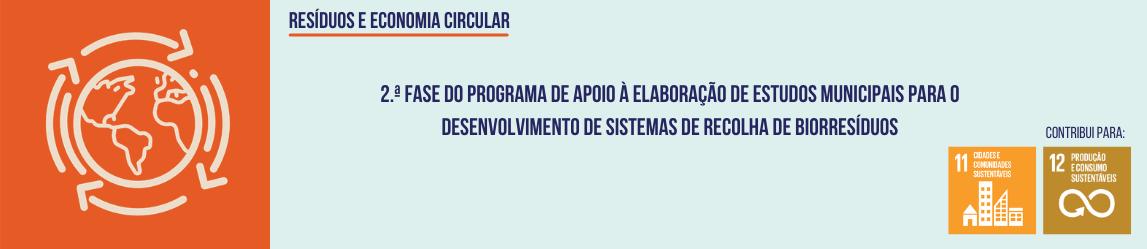 2.ª Fase do Programa de apoio à elaboração de estudos de sistemas de recolha de Biorresíduos
